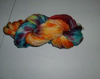 Hand Spun Hand Dyed Corridale cross Yarn DK Weight