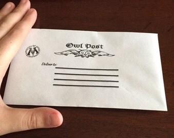 Harry Potter Inspired Owl Post envelope printable