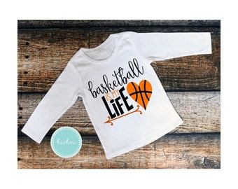 Girls basketball is my life top | Personalized Basketball shirt | Basketball top