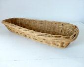 RESERVED FOR MICHELLE - Vintage French, Large Bread  Baguette Basket