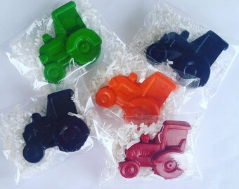 Tractor crayons, Tractor Favors, Tractor Party, Birthday Crayons, Crayon Favors, Party Favors, Party Crayons, Farm Party, Tractor Gift, Bags