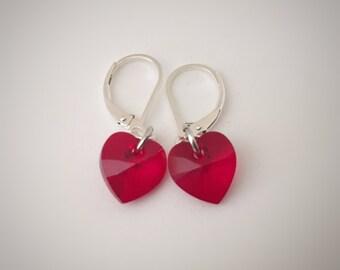 Hearts of Glass earrings