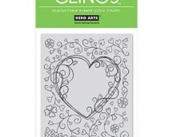 Hero Arts Cling Stamps: Heart Frame - Valentine stamps