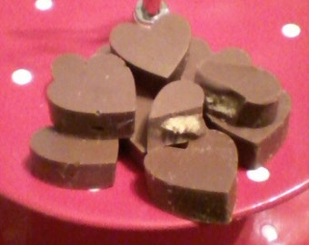 Chocolate and Peanut Butter Buckeye Hearts