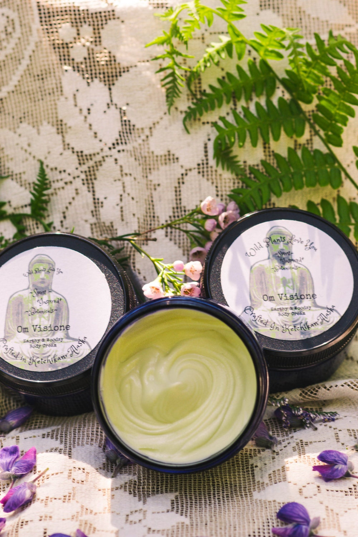 Bliss Cream~ Om Visione Skin Nourishing Deelight woodsy earthy grounding body butter