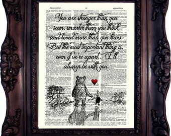 BEST FRIEND Gift Winnie the Pooh Quote Sister gift Girlfriend gift Boyfriend Gift Mom Gift Father Gift Dad Gift Daddy Winnie The Pooh C:725