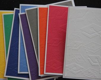 10 Embossed Graduation Cards. School Color Graduation Cards. Graduation Thank You Cards.  Graduation Cap Cards.  Graduation Greeting Cards