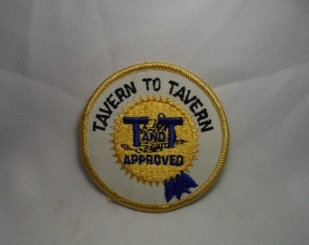 "Vintage ""Tavern To Tavern"" Bar Hopping? Snowmobile Patch"