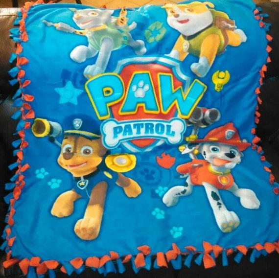 No Sew Fleece Paw Patrol Blanket Paw Patrol Fleece Throw