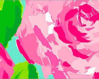 Hotty Pink First Impression cotton poplin  9 X 18 ~ Lilly Pulitzer~