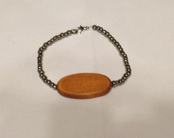 Wood Plate Bracelet