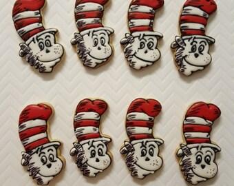Cat in the Hat cookies (Dozen)