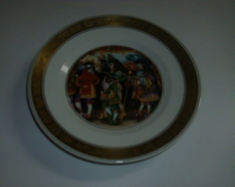 Vintage 1975 The Hans Christian Andersen Plates the empro's new clothes decorative plate