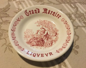 REDUCED French Vintage Grand Marnier Liqvevr tip / pin tray by Grindley
