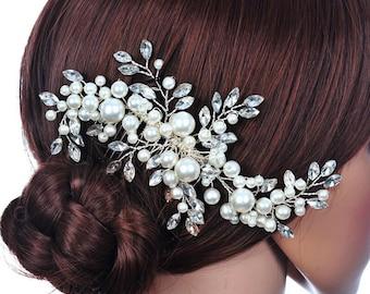 Pearl haircomb/ bridal haircomb