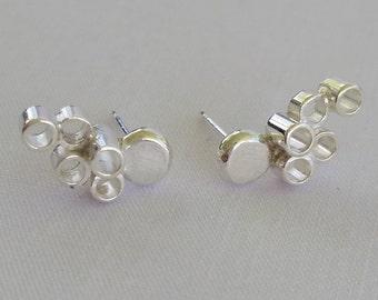 Sterling silver climber earrings