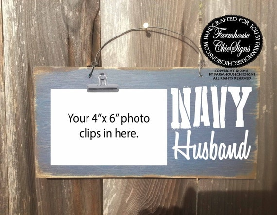 navy husband, navy husband sign, navy husband frame, navy husband picture holder, navy, husband, gift for military husband, military family