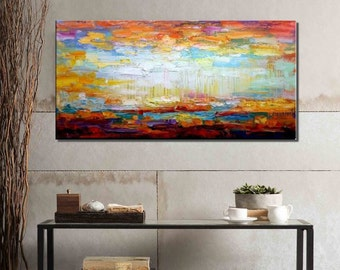 Abstract Painting, Wall Art, Oil Painting, Large Art, Original Oil Painting, Abstract Wall Art, Canvas Art, Abstract Art, Landscape Painting