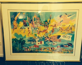 "LeRoy Neiman ""American Gold"" signed limited edition Serigraph - FREE SHIPPING"