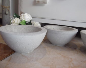 Concrete shell planting shell flower Bowl Ø20, 5 cm