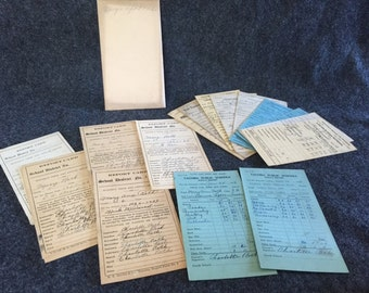 Antique school 1916-1929 report cards
