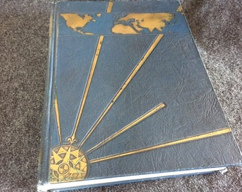 1930 art deco Blue and Gold UC Berkeley yearbook