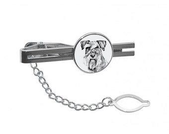 NEW! Schnauzer- Tie pin with an image of a dog.