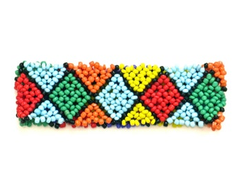 Reserved for Madiha / Woven beaded bracelet