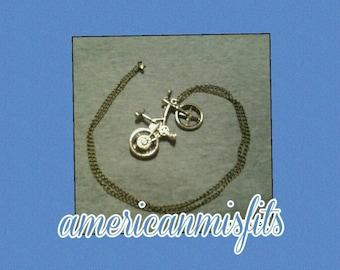 I love my bike necklace