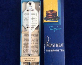 Vintage Taylor roast meat thermometer like new