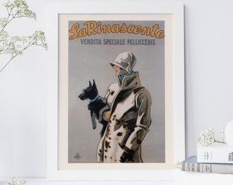 ART DECO FASHION -  Dog Poster, Fashion Wall Art,  Art Deco Wall Art, Home Decor Fashion Poster