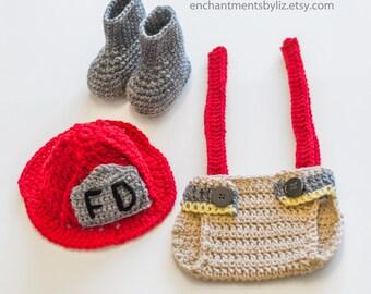 Newborn Fireman Outfit