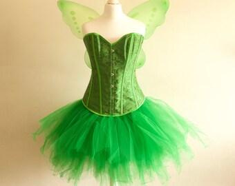 Women's Adult Halloween Tinkerbell Fairy Inspired Costume various sizes