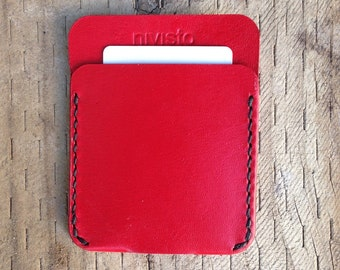 Red Wallet, Kangaroo Leather Wallet, Wallets for Men, Wallet, Slim Wallet, Card Holder Wallet, Mens Leather Wallets, Card Wallet