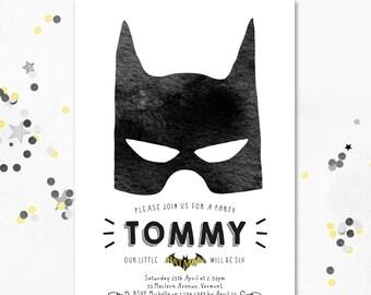 Batman Invitation. Batman Party Invite. Batman Birthday Party. SuperHero Invite. SuperHero Birthday. Printable Invitation. Motif Visuals