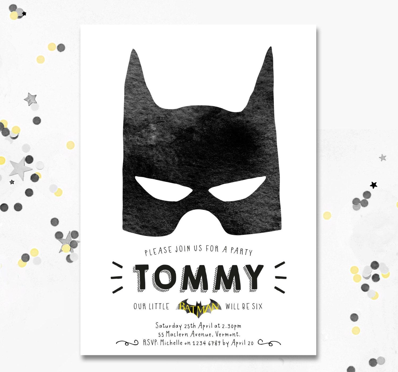 Batman Invitation. Batman Party Invite. Batman Birthday Party ...