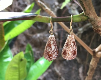 Textile Cone Earrings
