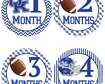 University of Kentucky Baby Milestone Stickers - College Football Baby Belly Stickers (530)