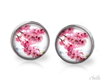 Earrings flowers - cherry blossom 19