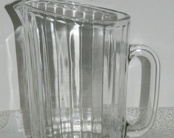 Glass pitcher.  old glass pitcher. English vintage