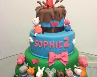 Peppa pig and friends cake topper