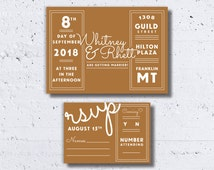 Modern Old Hollywood Wedding Invitation, Gold Wedding Invitations, Casual Wedding Invitations, Printable Wedding Invitations, Retro Invites