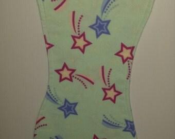 Burp Cloth (1)-Stars on Green (BC50)