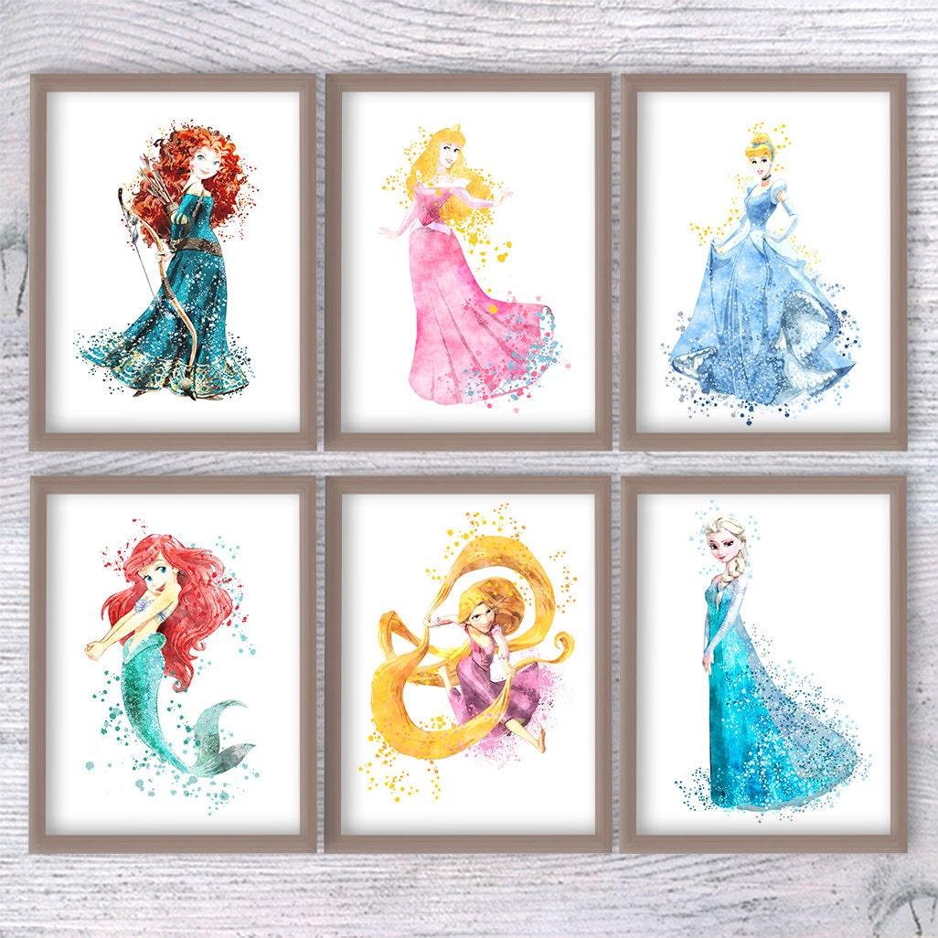 Princess Disney Princess Set Of 6 Girl Room Decor Baby