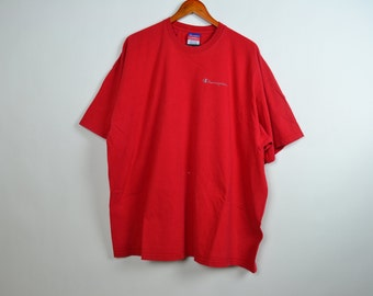 Red Oversized Champion T-Shirt