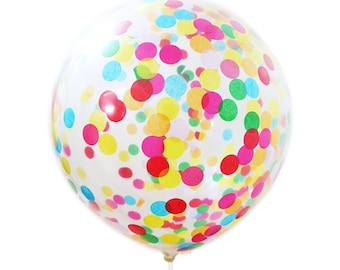 """Confetti balloon for birthdays, sweet 16, and special celebrations set of 4 12"""" balloons"""