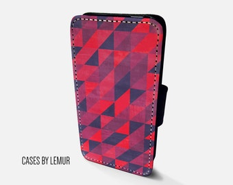 GEOMETRIC Iphone 5C Wallet Case Leather Iphone 5C Case Leather Iphone 5C Flip Case Iphone 5C Leather Wallet Case Iphone 5C Leather Sleeve