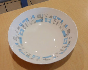 Vintage Blue Heaven Serving Bowl