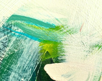 """Abstract Fine Art Print: """"Softly"""" Acrylic Painting (8x10)"""