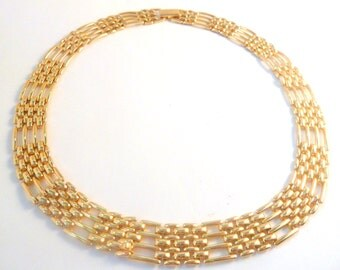 Vintage Napier Gate Style Chain Collar Necklace.